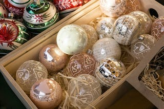 Keep an eye out at flea markets and antique stores for classic Christmas baubles.