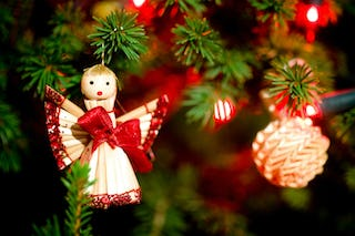 Angels are another common Christmas ornament that can be found decorating trees.