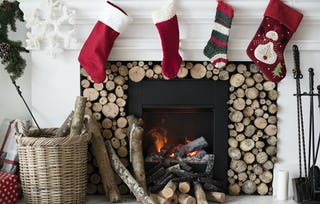 Instead of stockings, some cultures put out shoes or shoeboxes by the fireplace.