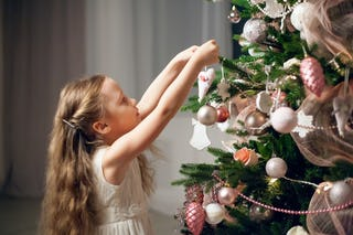 Decorating Christmas trees is a popular holiday tradition in many parts of the world.