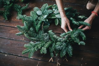 Today Christmas wreaths are often made by florists, although DIY wreaths are popular too.
