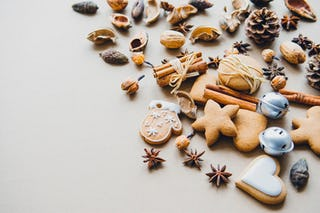 Gingerbread Cookies, Cinnamon and Nuts