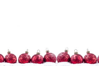 Red Ornaments with White Sparkles