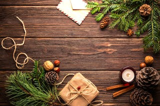 Rustic Decor with Fir Cuttings