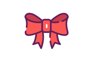 Red Christmas Bow