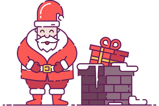 Santa Claus by the Chimney