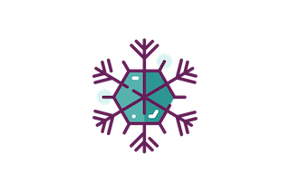 Snowflake with Six Points