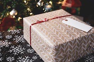 Brown Wrapped Christmas Gift