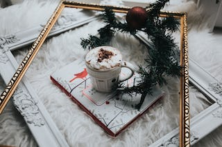 Holiday Drink with Decorations