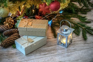 Holiday Gifts and Lantern