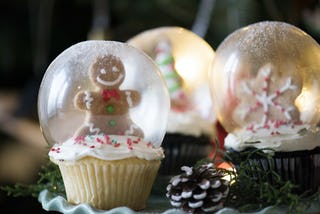 Christmas Cupcake Snow Globes