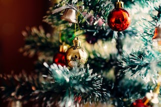 Tree with Red and Gold Baubles
