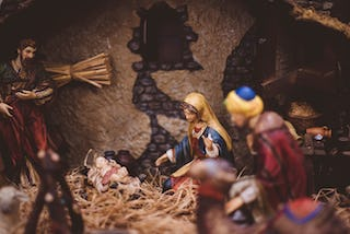Nativity Scene, Mary and Jesus