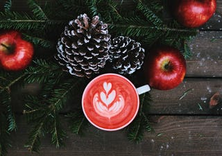 Pine Cones, Apples and Latte
