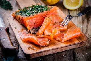 Cured using salt, share some gravlax with your friends on a cold winter