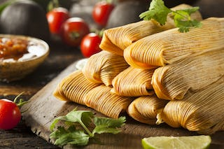 Spice up your holiday spread with some green tamales!