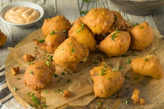 For a bit of southern flair, add some hush puppies to your app lineup.