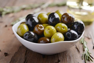Marinated olives are a nice accompaniment alongside your other appetizers.