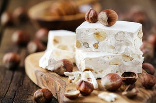 Hazelnut nougat is another common flavor and equally tasty.