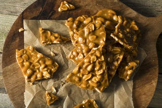 Created from a batch of taffy gone awry, peanut brittle is a accident of the most delicious sort.