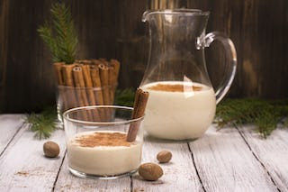 An oldie but a goodie, brandy milk punch can come in many festive colors.