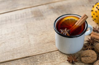 Bourbon and tea with spices? Sounds like a merry cocktail to us!