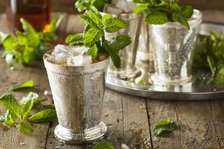 A bit of champagne and mint juleps are now officially a Christmas cocktail.