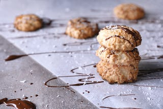 Although not part of the original recipe, coconut makes a great addition to macaroons.