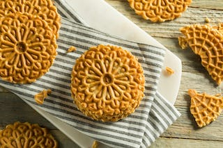 Pizzelles are a creative way to eat waffles for dessert (as if we needed an excuse).
