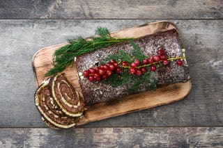 Resembling a wooden log, Christmas yule logs are a delicious treat (just don