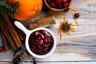 Cranberry sauce, the sauce you can put on pretty much everything.