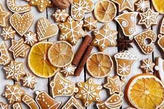Gingerbread cookies, another staple Christmas dessert.