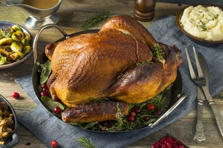 Roast turkey is another common meat served at the holiday feast.