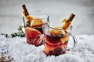 Wassail is a mulled wine with spices served during the holidays.