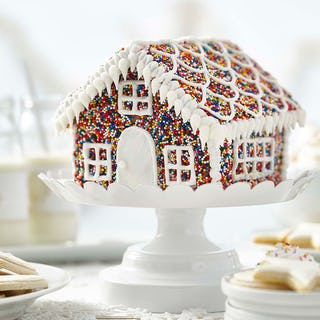 Sprinkle gingerbread house (image via Wilton).