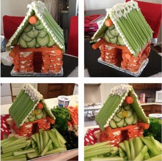 Vegetable gingerbread house (image via Planet Smarty Pants).