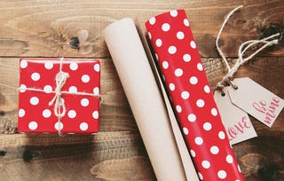 Wrap those gifts like your life depended on it!