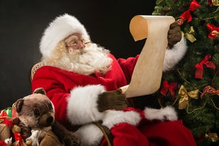 Santa making his list (and checking it twice!)