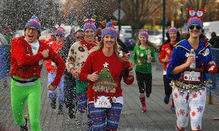The original Ugly Christmas Sweater Dash held in Vancouver every year.