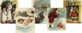 Original illustrations from A Visit from St. Nicholas by Clement Clark Moore.